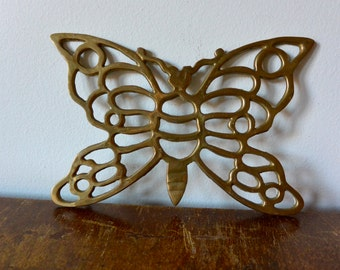 Brass Butterfly Trivet
