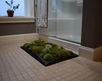 Moss Bath Mat kit (Pillow Moss, Black Tray)- Great Gift Idea!
