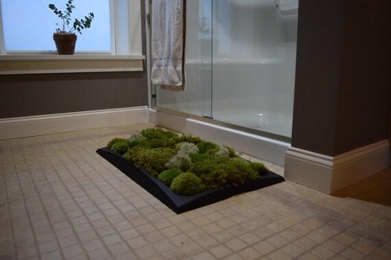 Moss bath mat kit pillow moss black tray holiday by for Moss shower mat