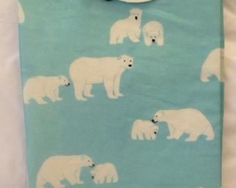 Polar bear scarf - polar bear wrap - polar bear shawl - polar bear print scarf - in 100% cotton