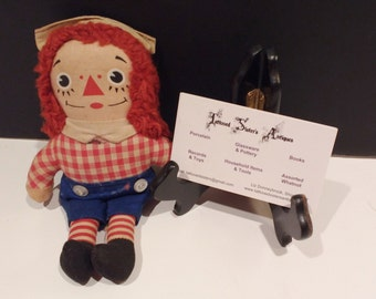 Vintage Knickerbocker Raggedy Andy Stuffed Toy c.1970s  FREE SHIPPING