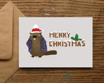 Merry Christmas Beaver | Christmas Cards