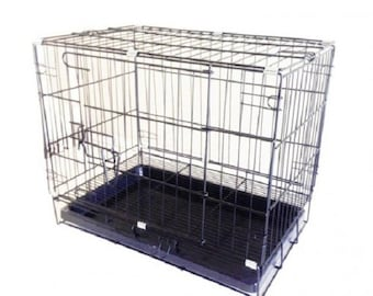 Fixture Displays® Pet Folding Dog Cat Crate Cage Kennel w/ Tray Carrier 11970-1