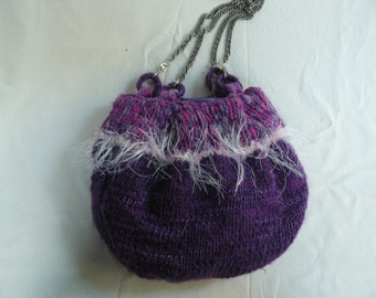 fanciful wool handmade bag