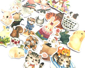 Kawaii animal sticker flakes