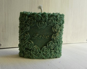 Vegetable candle love green handmade