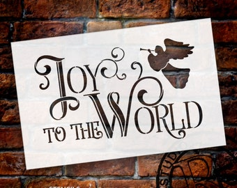 Joy To The World - Elegant Vintage Serif - Word Art Stencil - Select Size - STCL1540 - by StudioR12