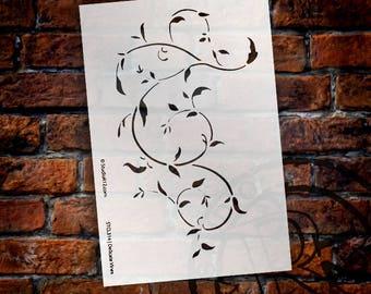 "Delicate Vines Stencil- 6"" x 9"" -  SKU: STCL314"