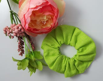 NEW handmade hair scrunchies and tie, hair accessories - Green scrunchies (price for one scrunchie only)