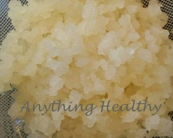 Fresh Water Kefir Grains 1/4 cup Live Tibicos Probiotic Culture Starter, Fizzy Healthy Soda Alternative, DIY Make Your Own