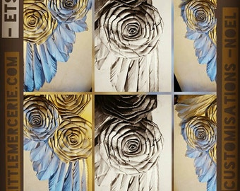 Silver & gold or bronze roses