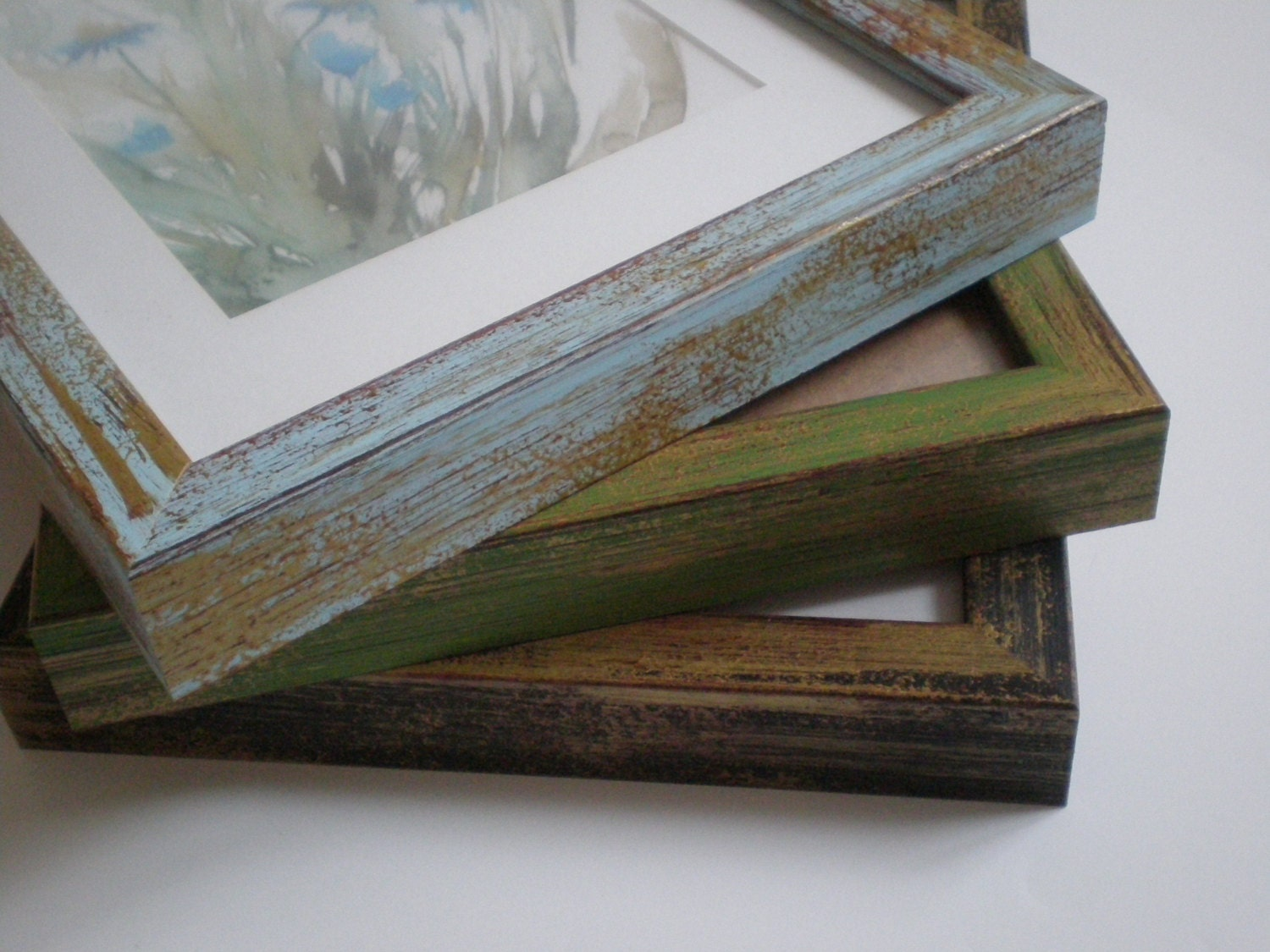Wall Picture Frame 11x14 Rustic Frame Distressed Frame