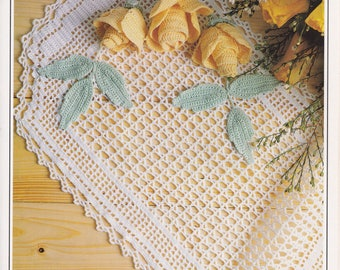 Yellow Roses Irish crochet pattern PDF digital download