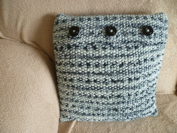 Handmade Moss Stitch Cushion Pillow covers. Plus matching Throws. Made in UK