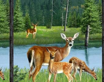 Oh Deer Panel by Wilmington Prints