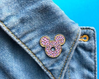 Donut, enamel pin, pin, disney, mickey, lapel pin, brooch