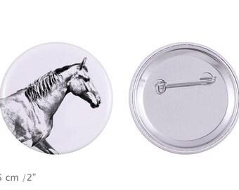 Buttons with a horse -Selle français