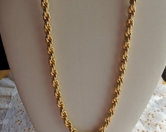 West Germany Gold Rope/Chain Necklace Marked West Germany Cold Chain Necklace Gold Rope Like Necklace Costume Jewelry