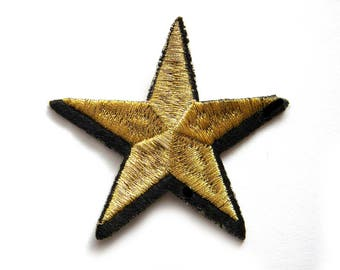 Embroidered Gold Star Appliqué