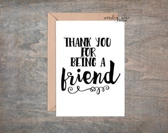 thank you for being a friend funny greeting card bff