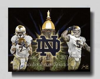 Notre Dame Wall Art notre dame nd emblem metal wall art 16 wide gold