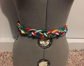 Vintage Woven Braided Belt