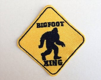 Bigfoot Crossing Iron-on Patch