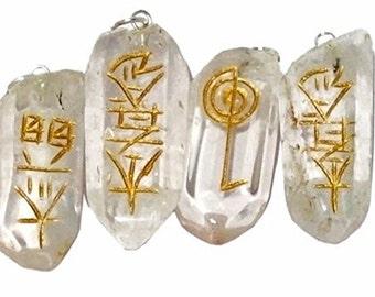 WholesaleGemShop Quartz Crystal Natural Point Usui Reiki A+ Healing Sets Chakra Balancing Stones with Free Shipping