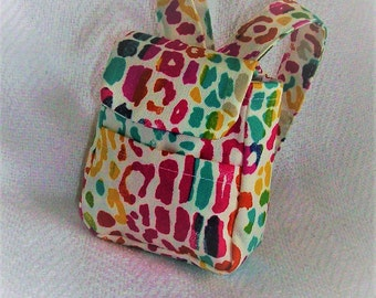 Colorful Print Backpack made to fit American Girl Doll