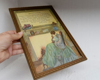 Vintage Marygold Mother Print