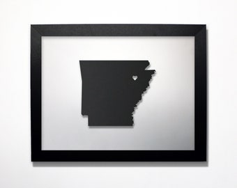 Arkansas Map / Laser Cut Map / Arkansas State Art / Arkansas Art / Framed State Map / Arkansas Gift / Wedding Gift / Anniversary Gift