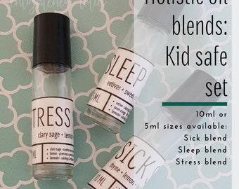 Holistic Oil Blends, Kid-safe Set Includes 3- 5 ml. Kid Safe Blends: Sick Stick, Stress Stick, Sleep Stick