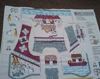 Daisy Kingdom Country Noah's Ark VestFabric Panel