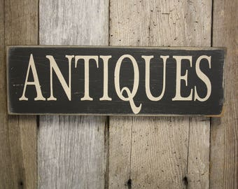 Antiques Sign, Fixer Upper Style, Farmhouse Sign, Rustic Decor, Fixer Upper Decor, Antiques Wall Decor