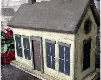 Primitive Cottage Birdhouse Pattern Plan WN166 et