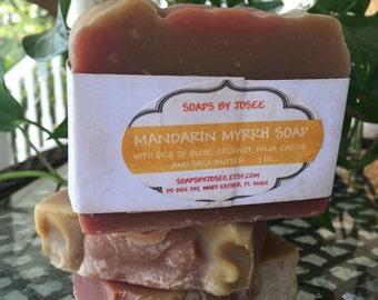 MANDARIN MYRRH Old Fashioned Lye Soap