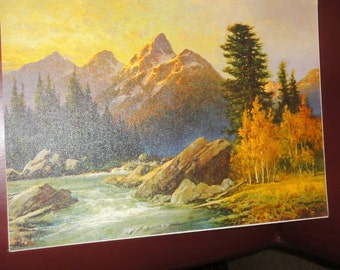 "Vintage ""Grand Teton"" On Board By Robert Woods"