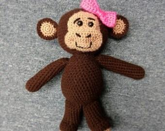 Custom Crocheted Monkey Doll