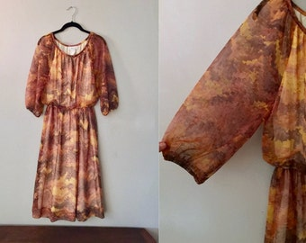 Women's Peasant Dress Vintage