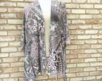 Kimono Cardigan, Boho Kimono, Duster Jacket, Gift for Her, Wedding Kimono, Hippy Boho Kimono, Beach Coverup, Kimonos, Swim Cover, Maternity