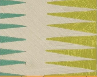 Pueblo Stripe in Green from Dreamer, By Carrie Bloomston for Windham Fabrics
