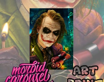 Batman Dark Knight Joker - A3 Art Print