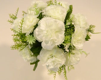 "11"" Flower  Bush in White"