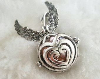 Harry Potter Inspired Snitch Antique Silver Pearl Cage, Open an Oyster Akoya Oyster Pick a Pearl Oyster Harry Potter Quidditch Snitch Locket