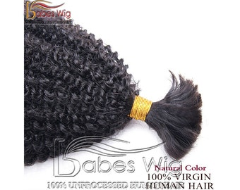 Brazilian Real Human Hair Bulk Braiding Hair Kinky Curly Hair Braids