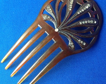 Celluloid Decorative Comb or Peineta