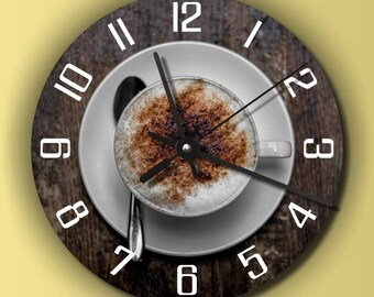 Coffee clock in round or angular export. modern wall clock,  housewares,  clock,  mdf wall clock, personalized wall clock