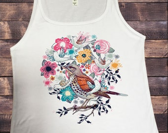 Jersey Tank Top British Indie Bird Watching,Twitchers, Birds Print JTK587