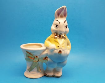 Vintage Easter Bunny Planter by Joan Lea Creations