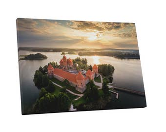 Castles and Cathedrals Trakai Castle in Litaunia Gallery Wrapped Canvas Print